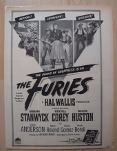 The Furies (1950) - Barbara Stanwyck - Vintage Trade Ad